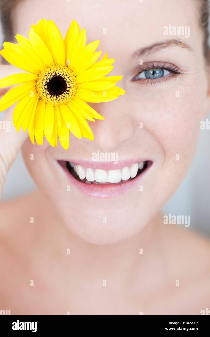 Happy woman - Stock Image