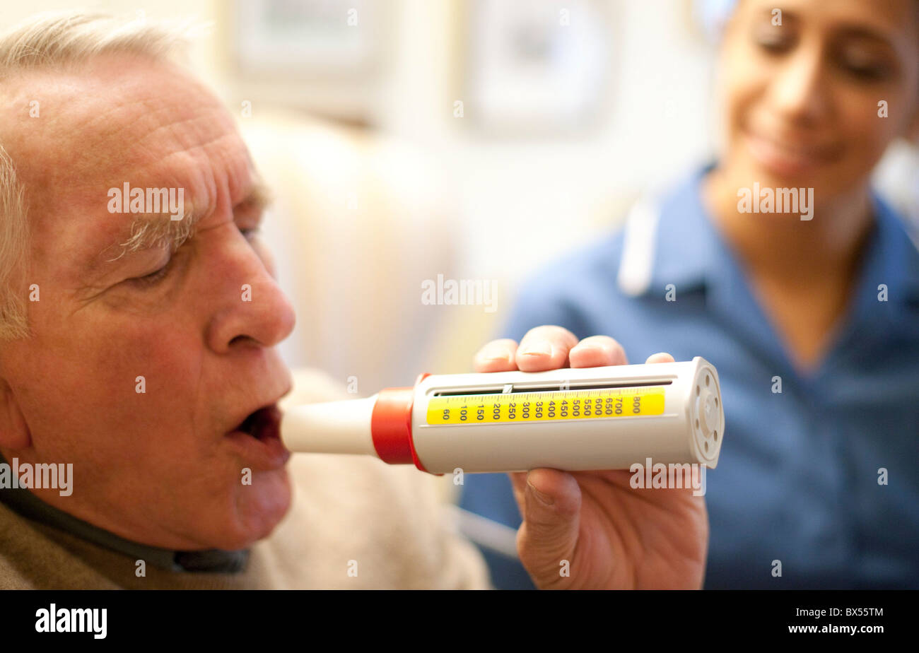 Lung function test - Stock Image