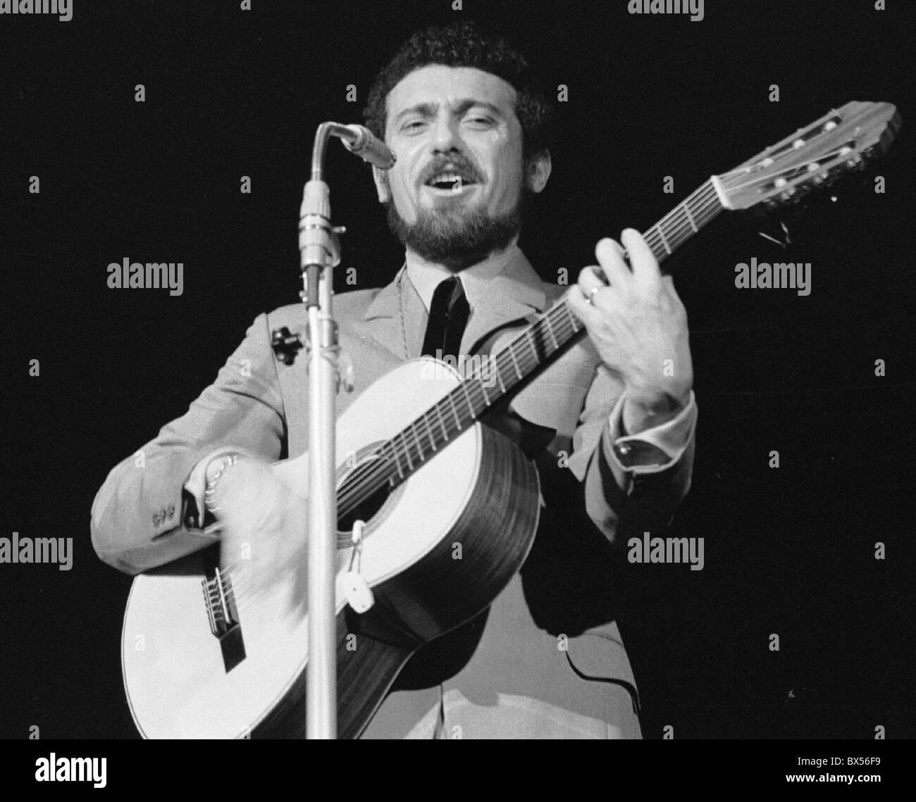 October 11th 1968 Czech singer Waldemar Matuska performs during the concert in Lucerna Palace in Prague. (CTK Photo/Jan - Stock Image
