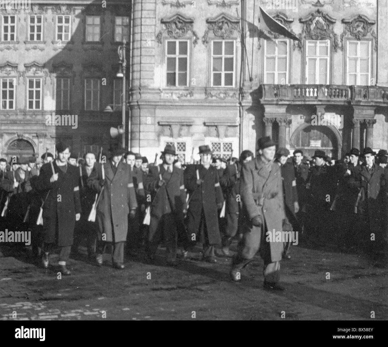 Prague, People´s Militia - Stock Image