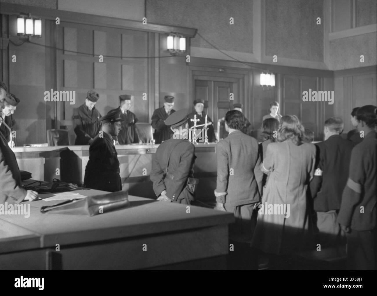Spy trial, enemies of state, spies, wrongly accused - Stock Image