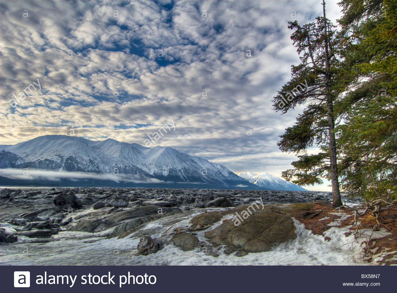 Bird Point , Turnagain Arm, Chugach State Park - Stock Image