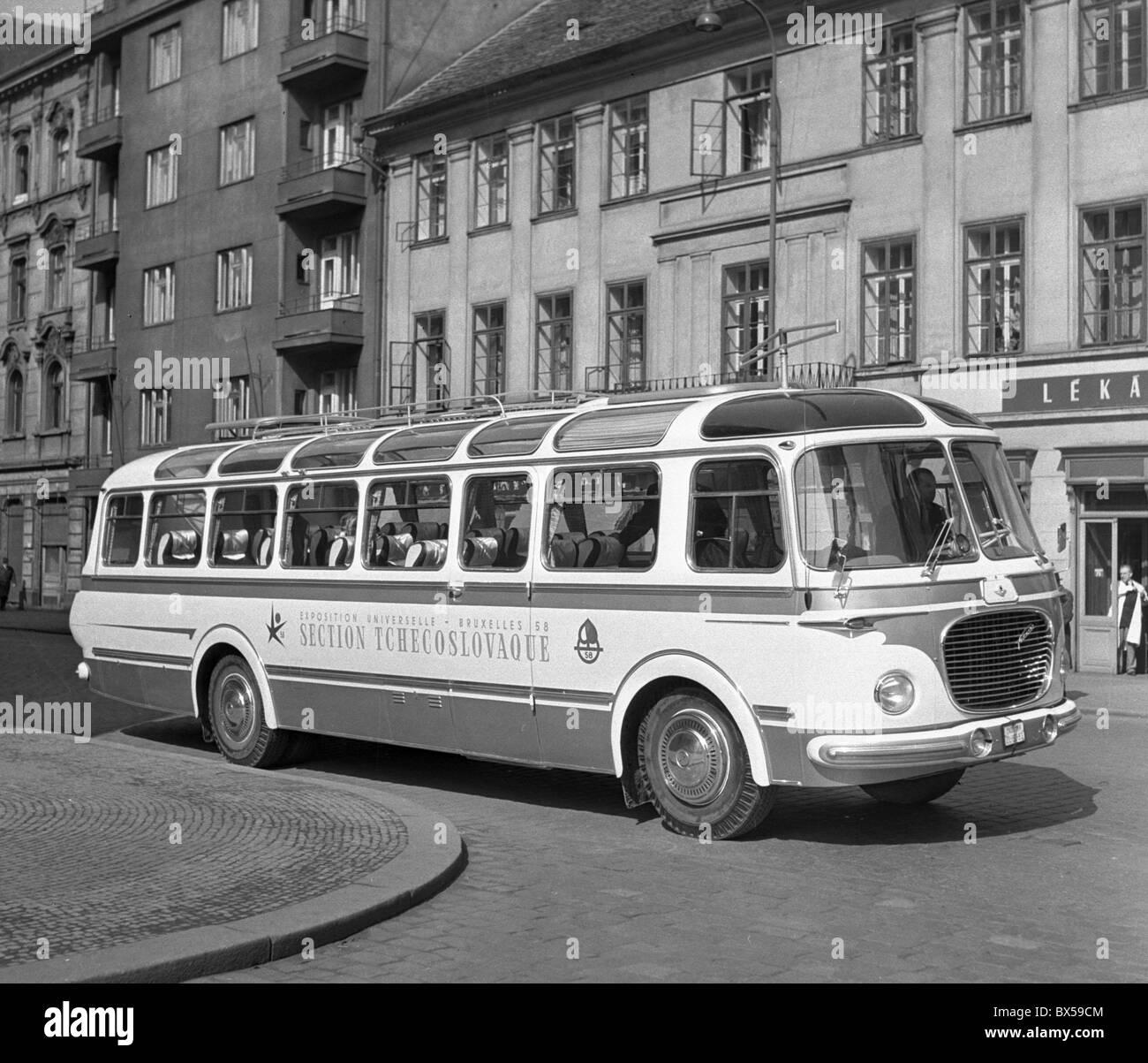 new bus, Skoda 706 RTO - Stock Image