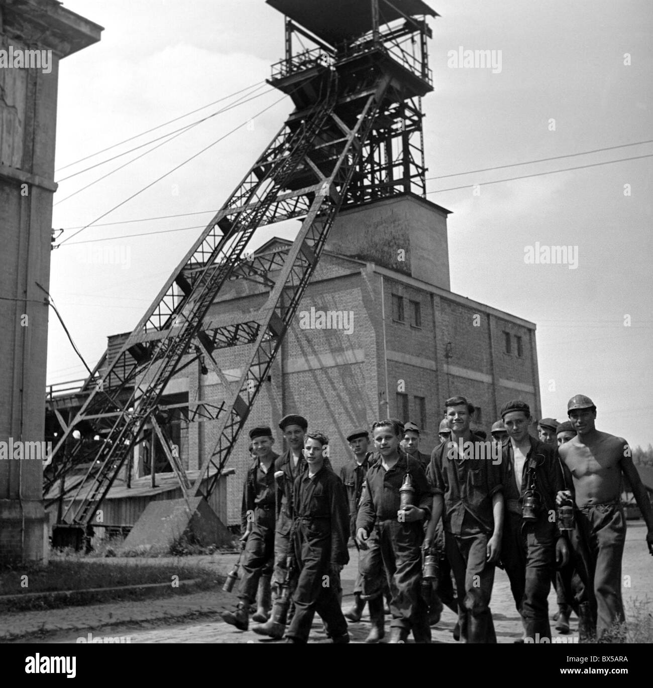 recruited coal miners - Stock Image