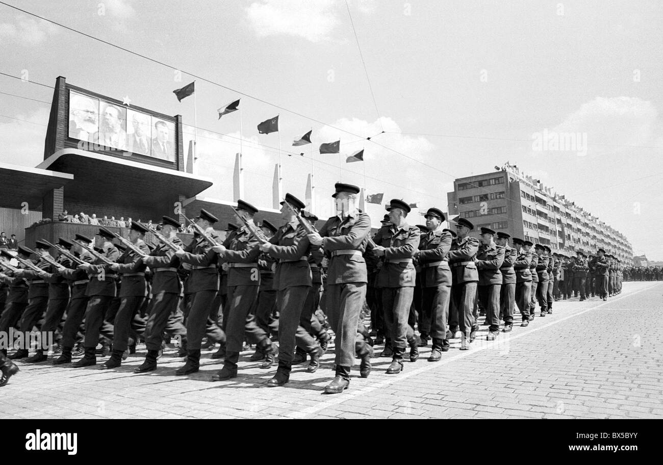 Czechoslovak People´s Army, march, parade - Stock Image