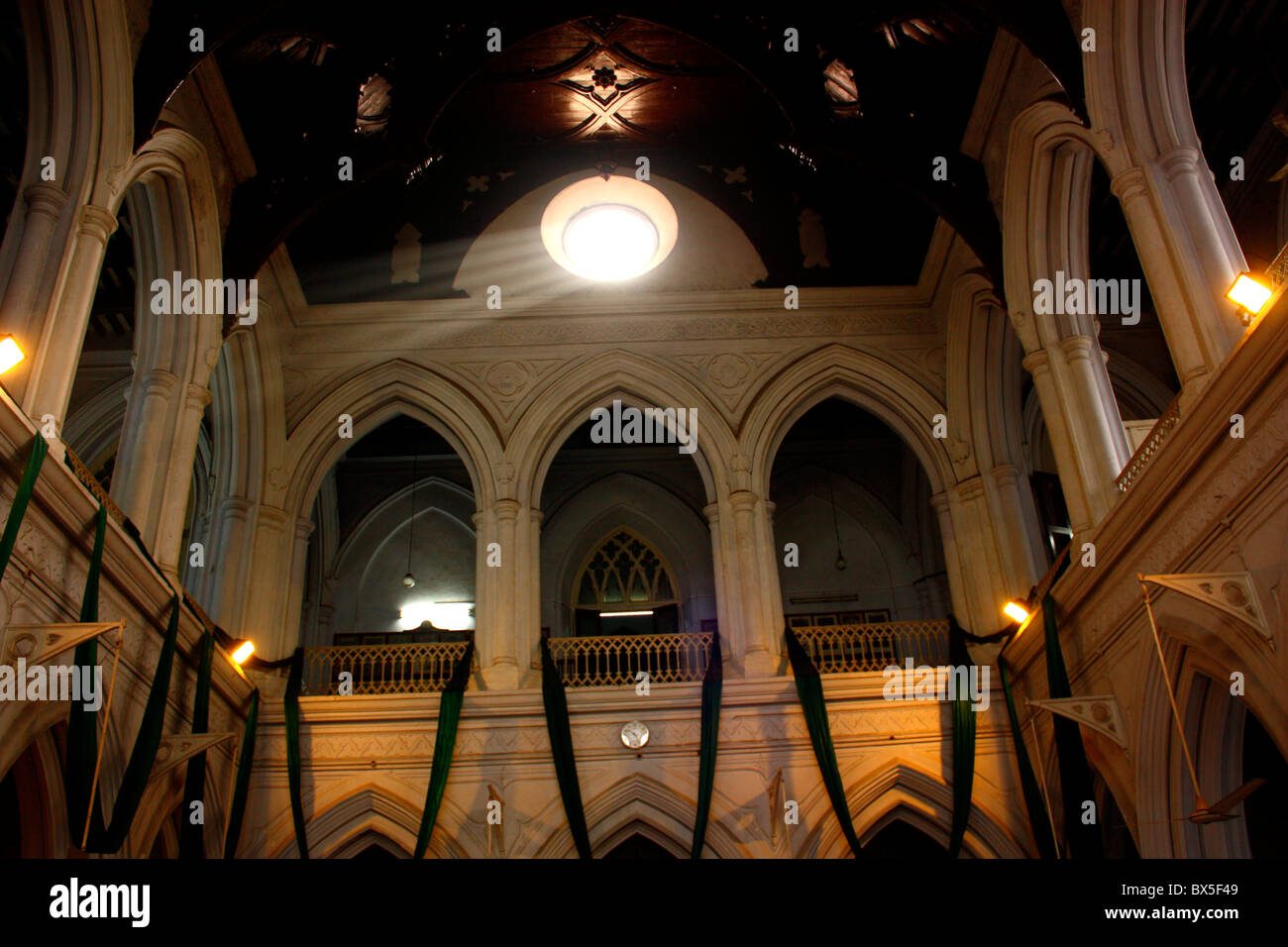 Inside View of Lahore college hall,Pakistan - Stock Image