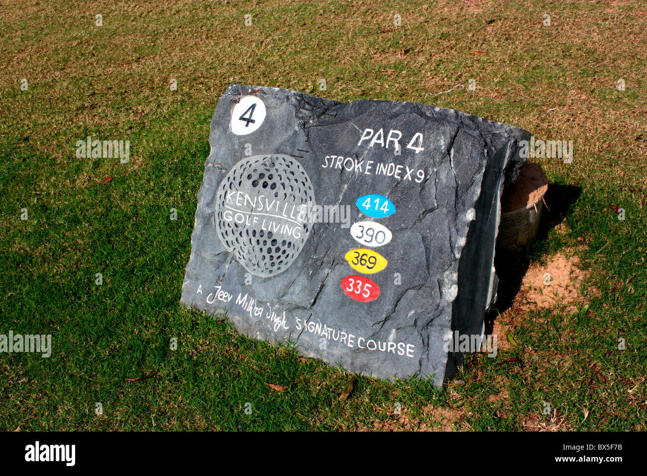Hole information board - Stock Image