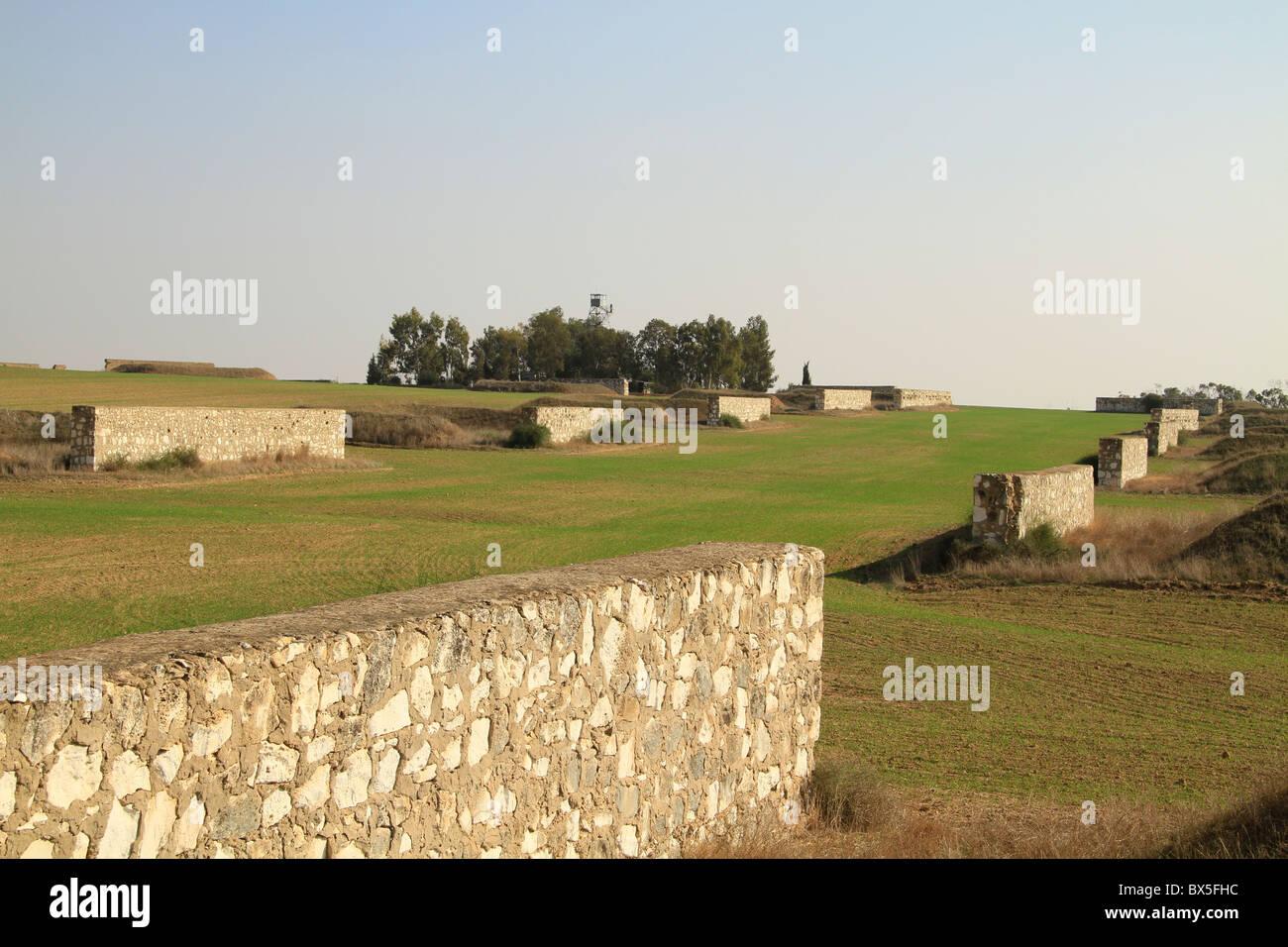 Israel, Negev, an abandoned British ammunition dump in Beeri - Stock Image