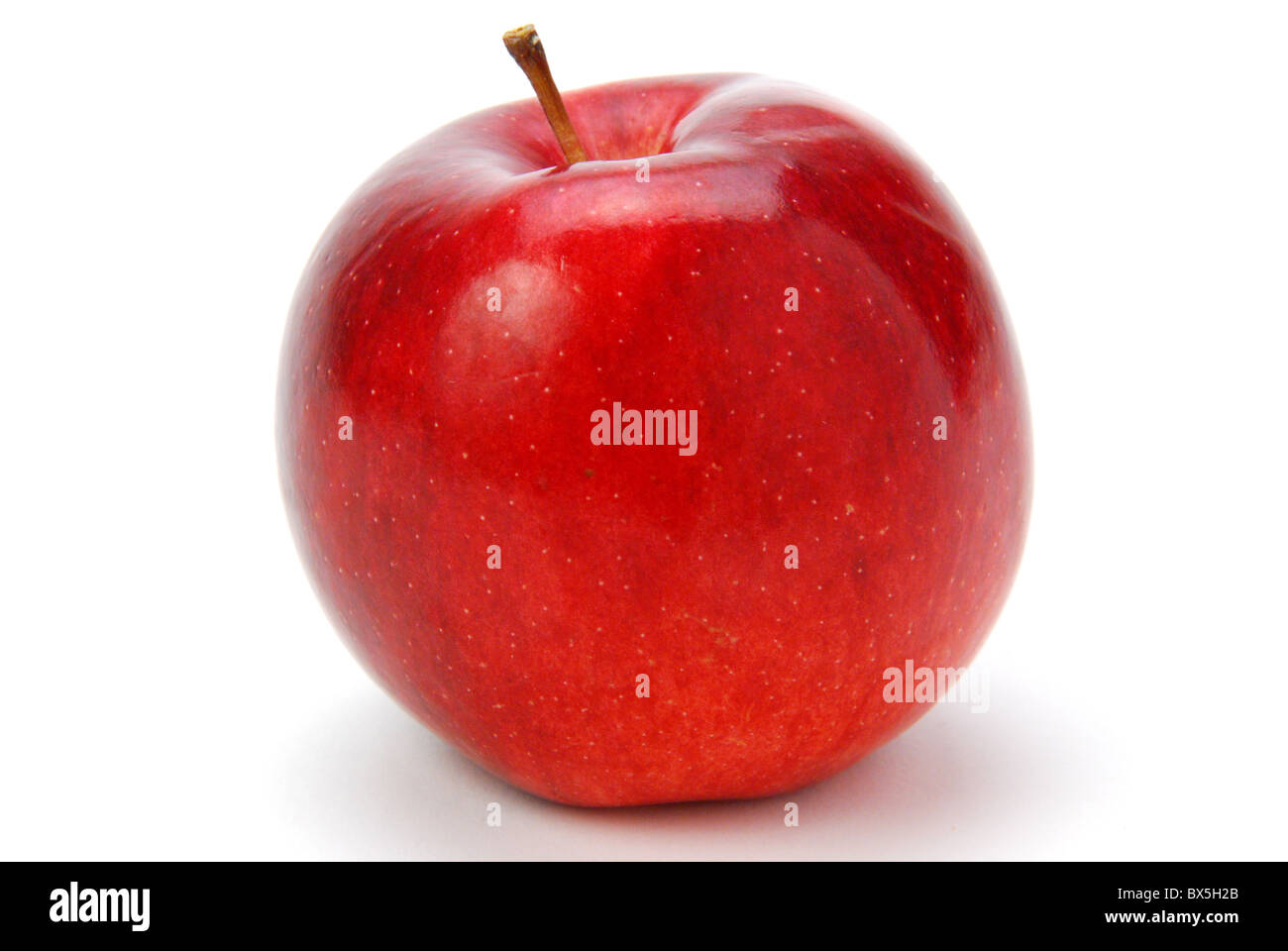 SINGLE RED APPLE - Stock Image