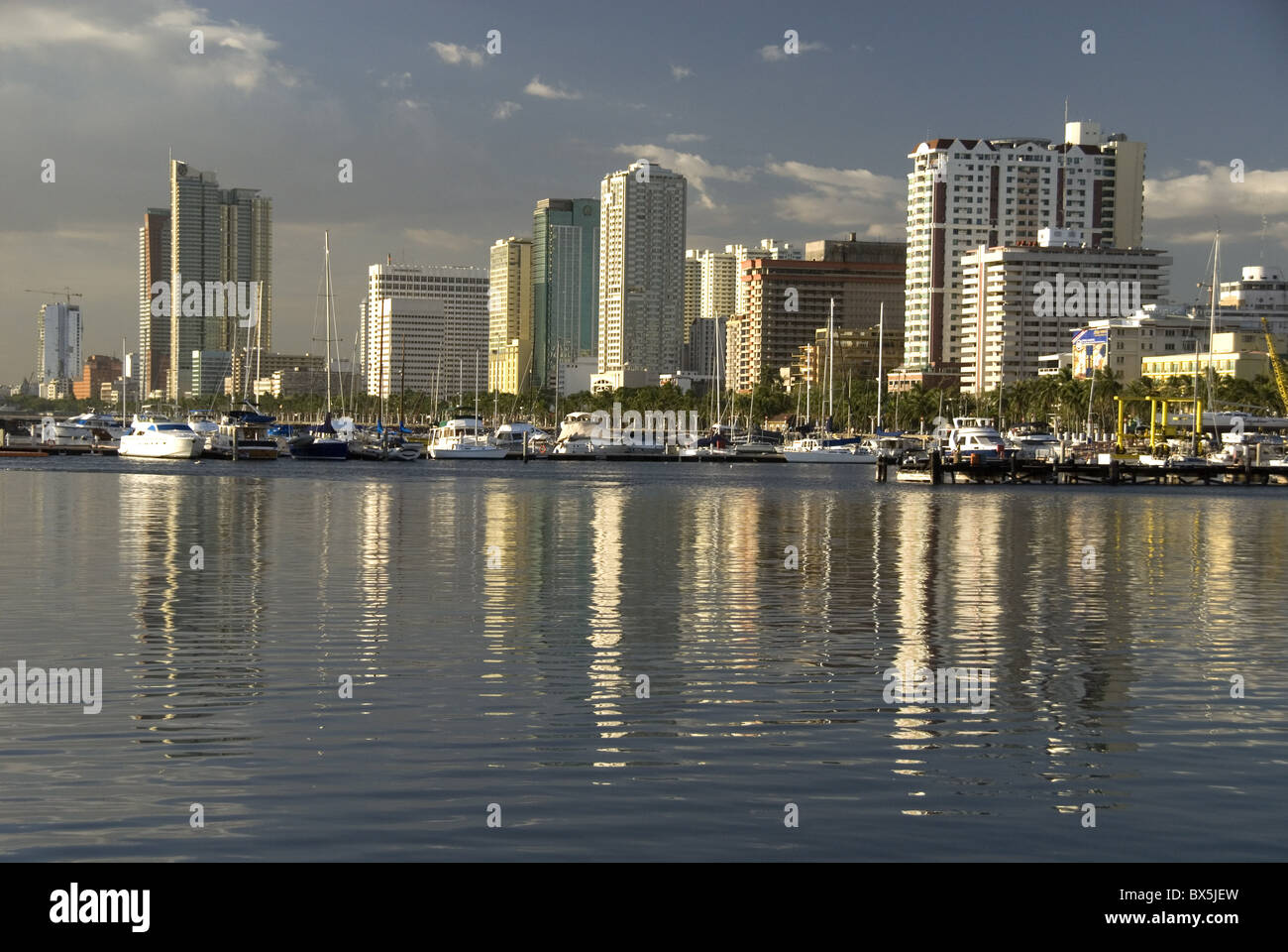 Malate district on shore of Manila Bay, Manila, Philippines, Southeast Asia, Asia - Stock Image
