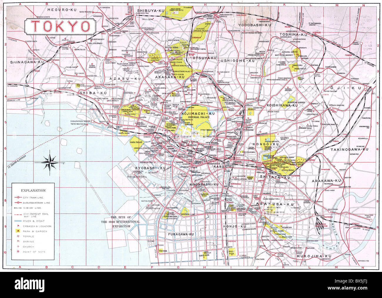 Geography travel japan tokyo city map circa 1936 maps 20th geography travel japan tokyo city map circa 1936 maps 20th century historic historical 1930s 30s asia gumiabroncs Choice Image