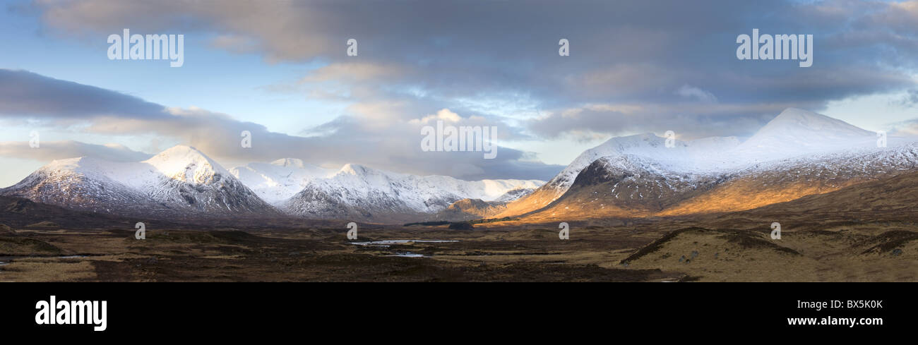 Panoramic view across Rannoch Moor, near Fort William, Scotland, UK - Stock Image