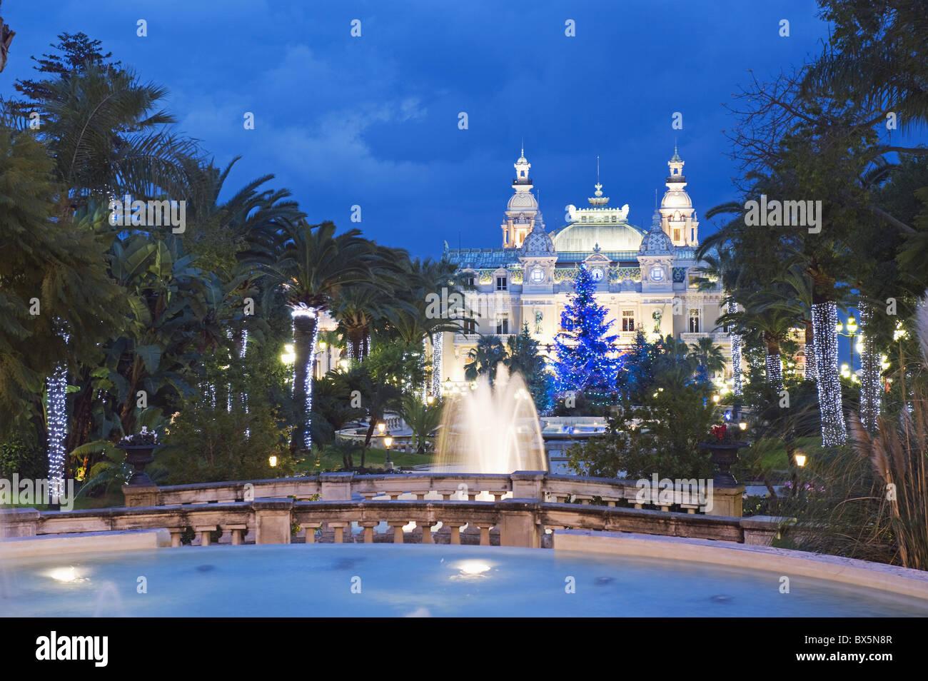 Monte Carlo Casino, Monte Carlo, Principality of Monaco, Cote d'Azur, Europe - Stock Image