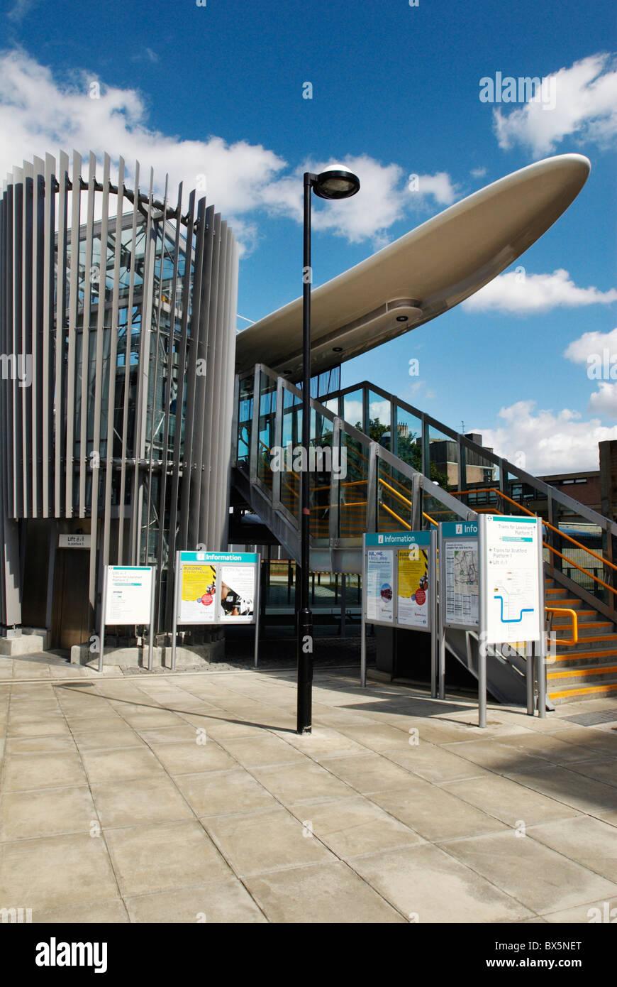 Langdon Park DLR station East London UK - Stock Image