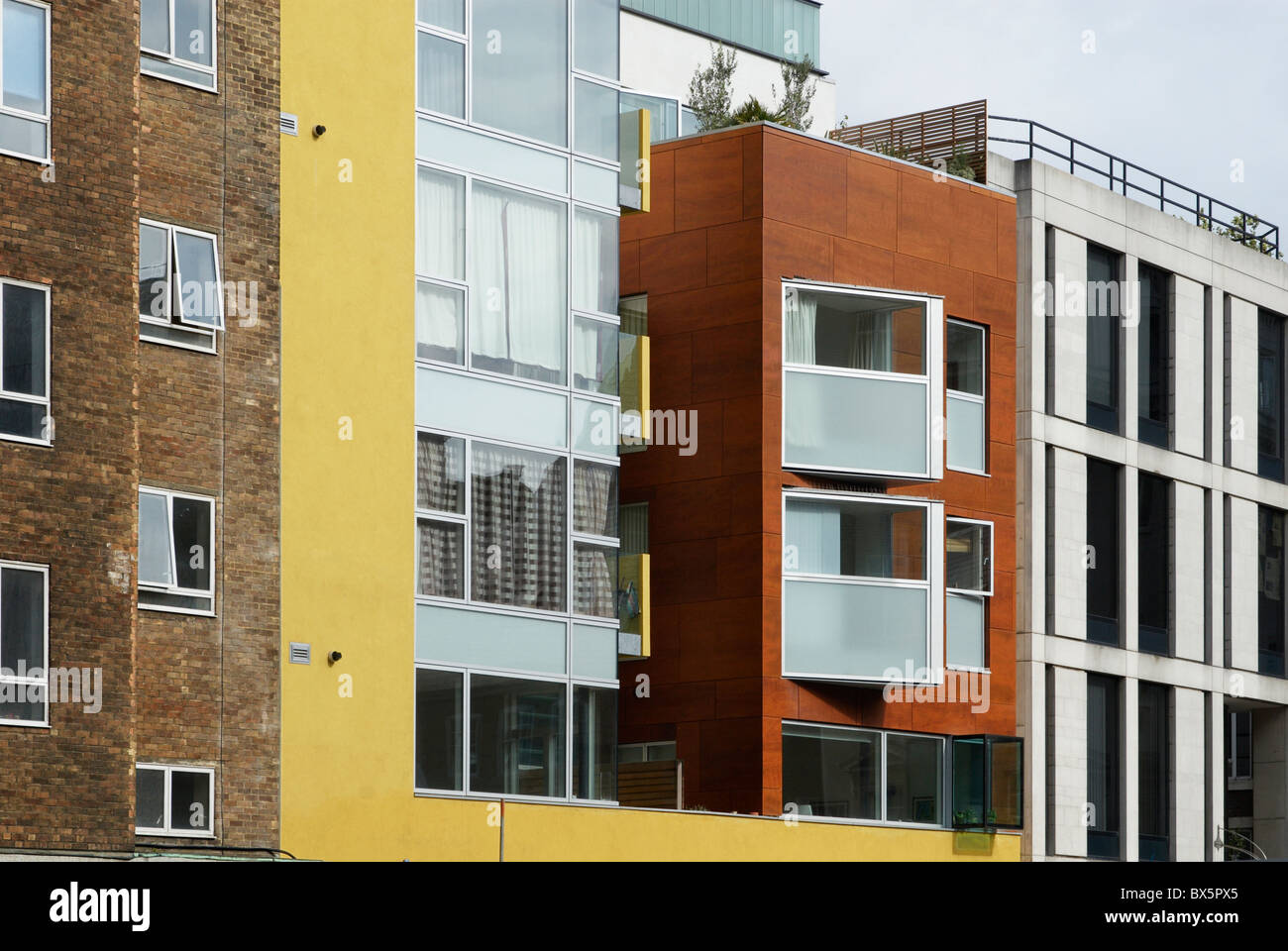 Modern apartments Clerkenwell Central London UK - Stock Image