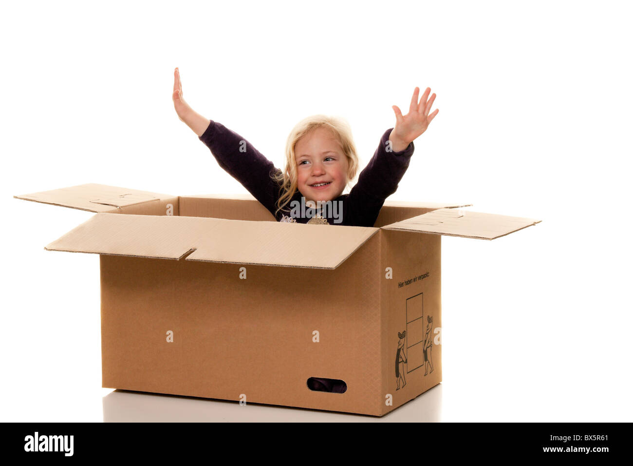 happy six year old causasian girl Stock Photo