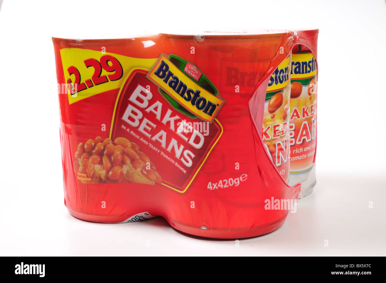 Baked Beans ''Branston'' 4 tins for £2.29 - Stock Image