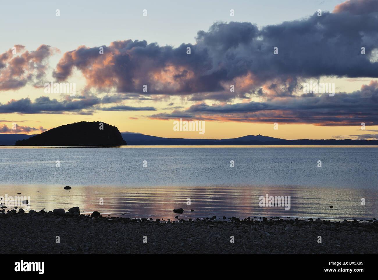 Lake Taupo, Waikato, North Island, New Zealand, Pacific - Stock Image