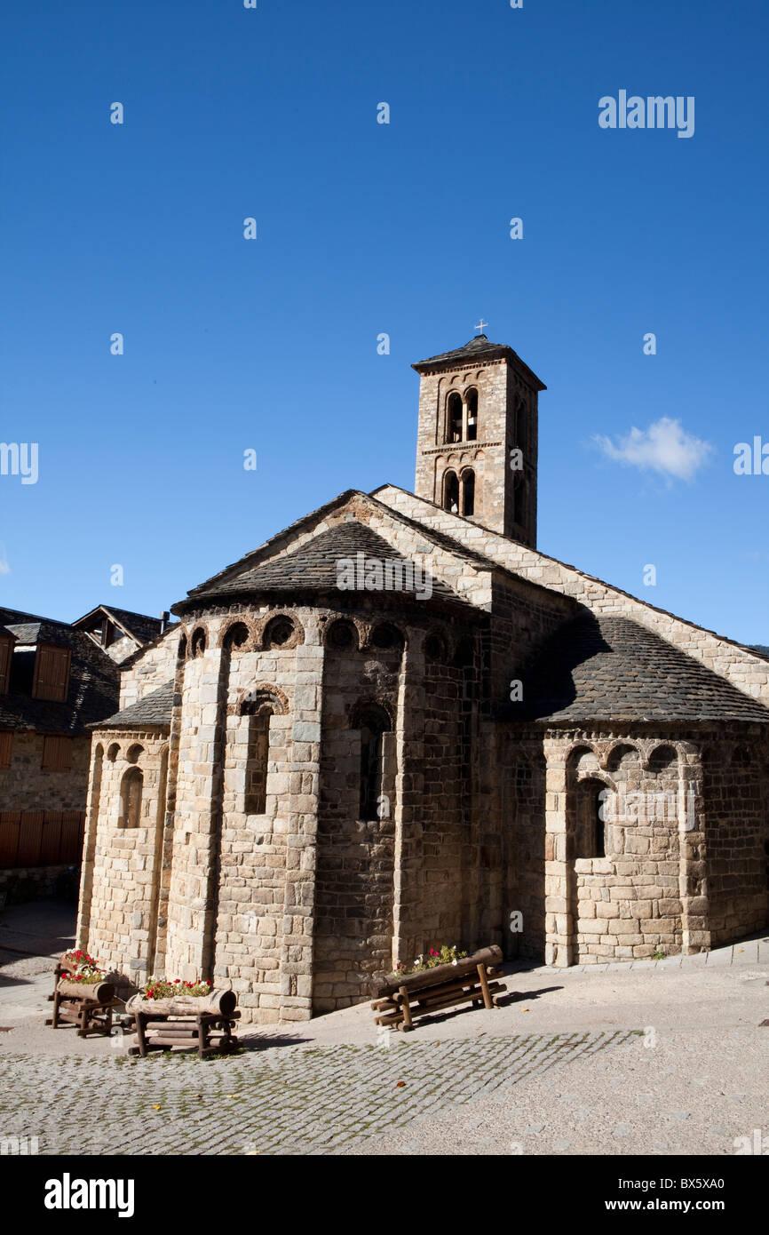 Santa Maria de Taüll church, Taüll, Vall de Boí, Lleida, Spain - Stock Image