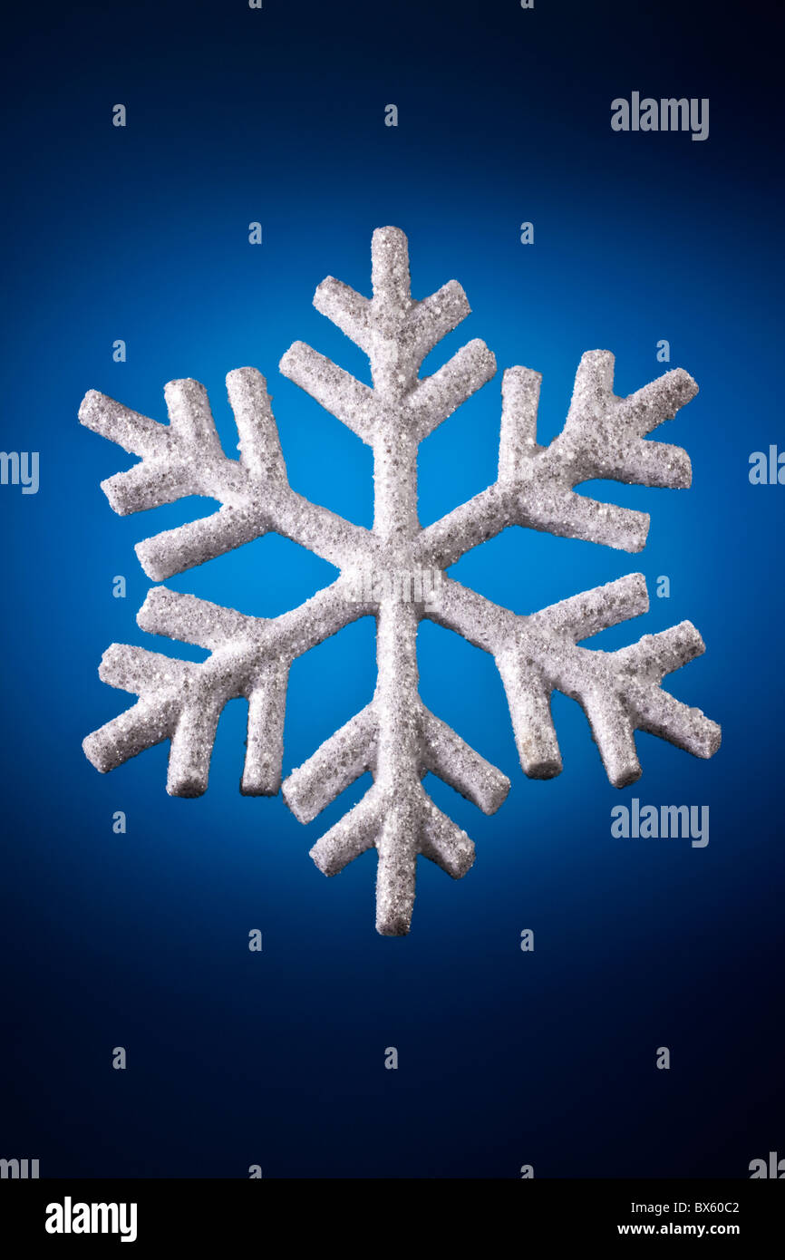 Snow Flake Christmas Decoration - Stock Image