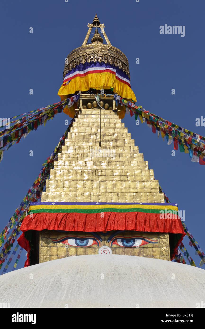 bodhnath stupa in Kathmandu, Nepal - Stock Image