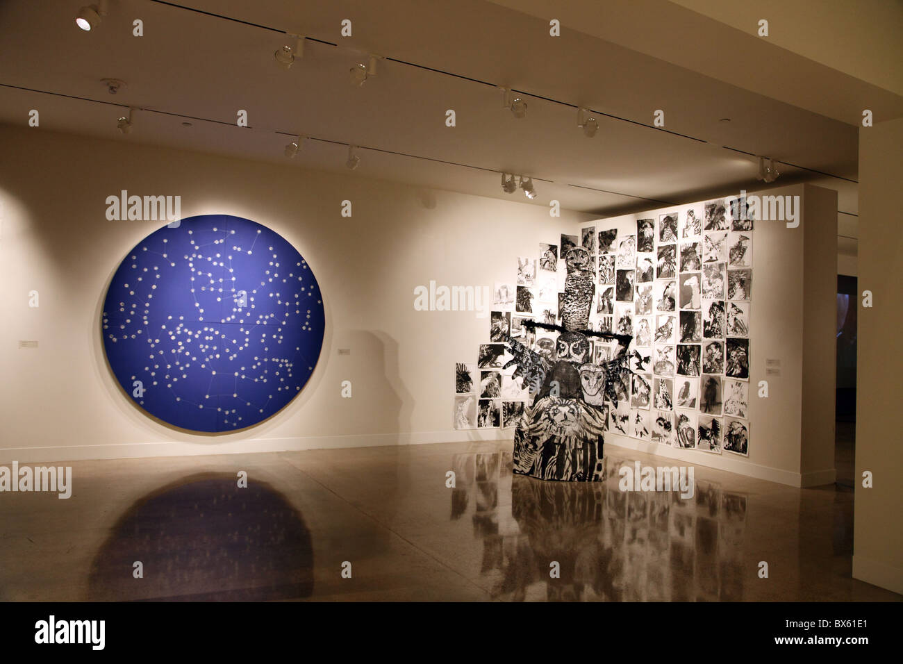 exhibition at the University of Texas Visual Arts Center, Austin, Texas - Stock Image