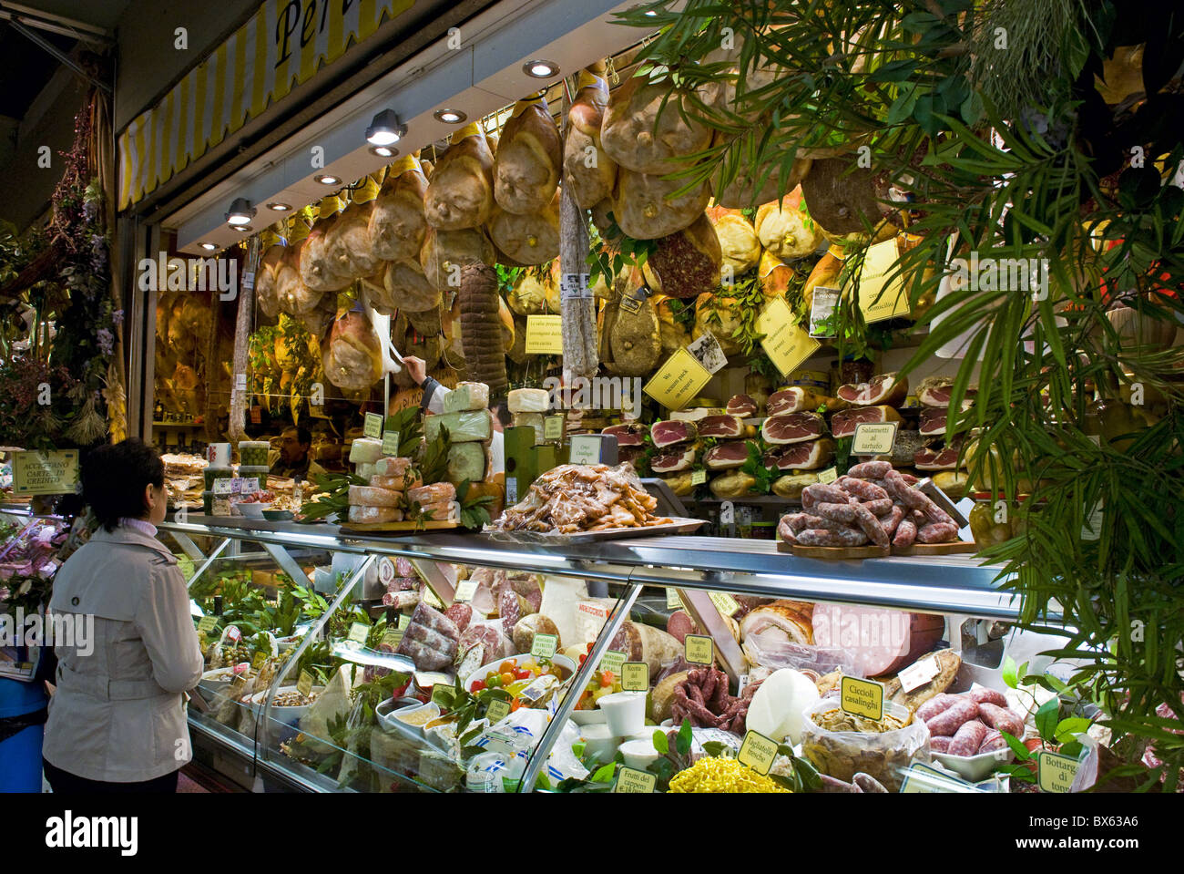 Mercato Centrale (Central Market), Florence (Firenze), Tuscany, Italy, Europe - Stock Image