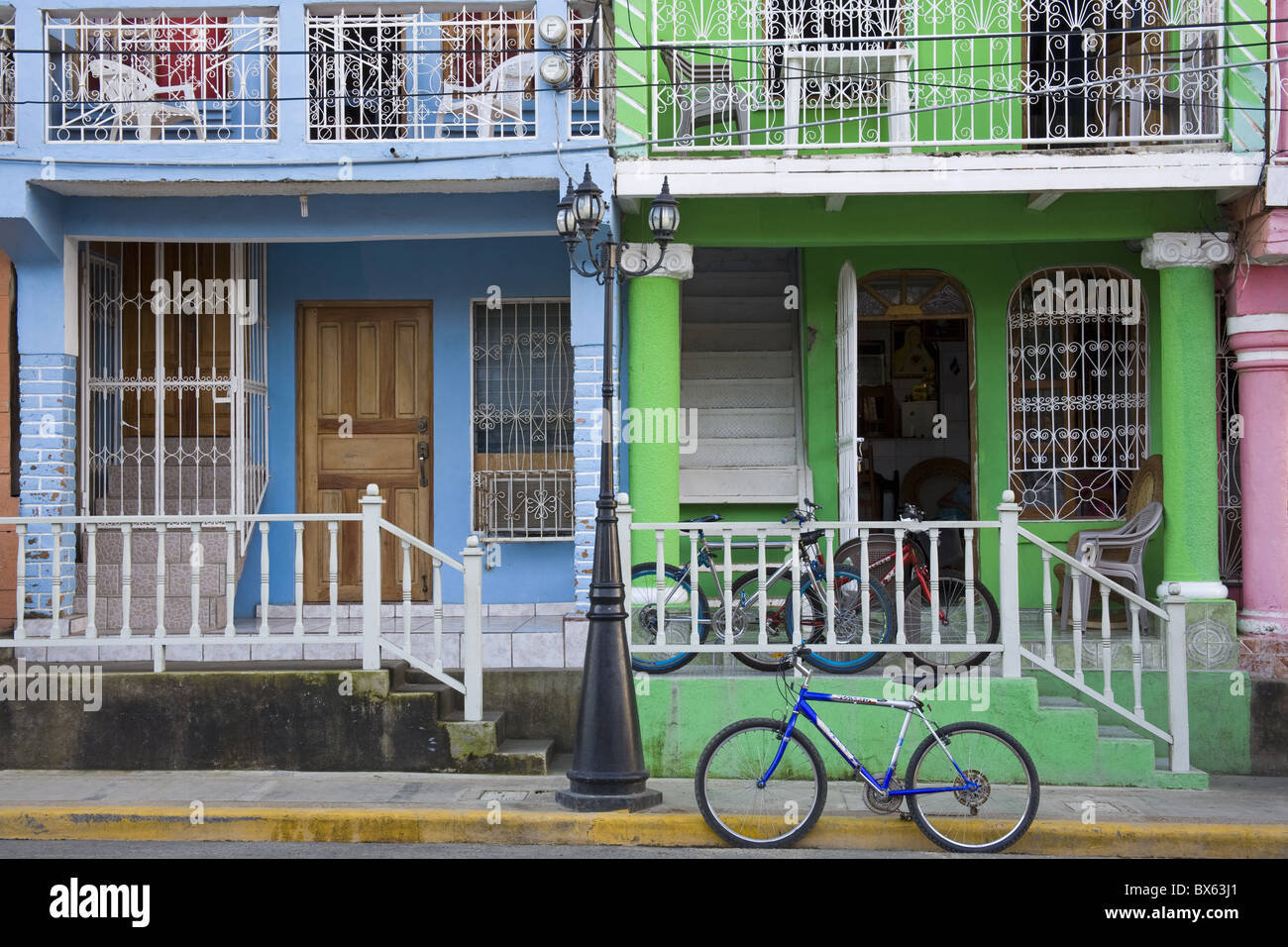 Calle Street in San Juan Del Sur, Department of Rivas, Nicaragua, Central America Stock Photo