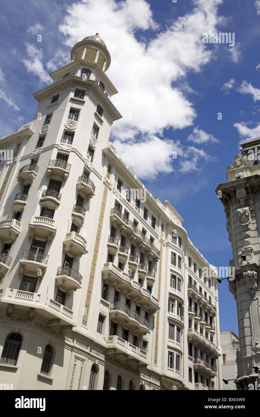 Buildings on Plaza Fabini, Montevideo Center, Uruguay, South America Stock Photo