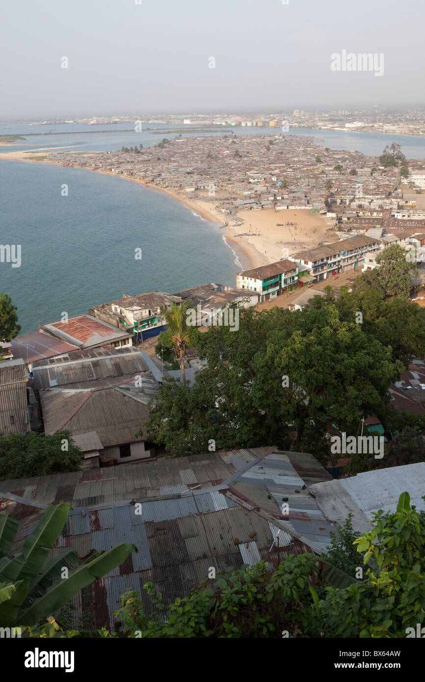 monrovia liberia oceanfront showing waterside and the mesurado