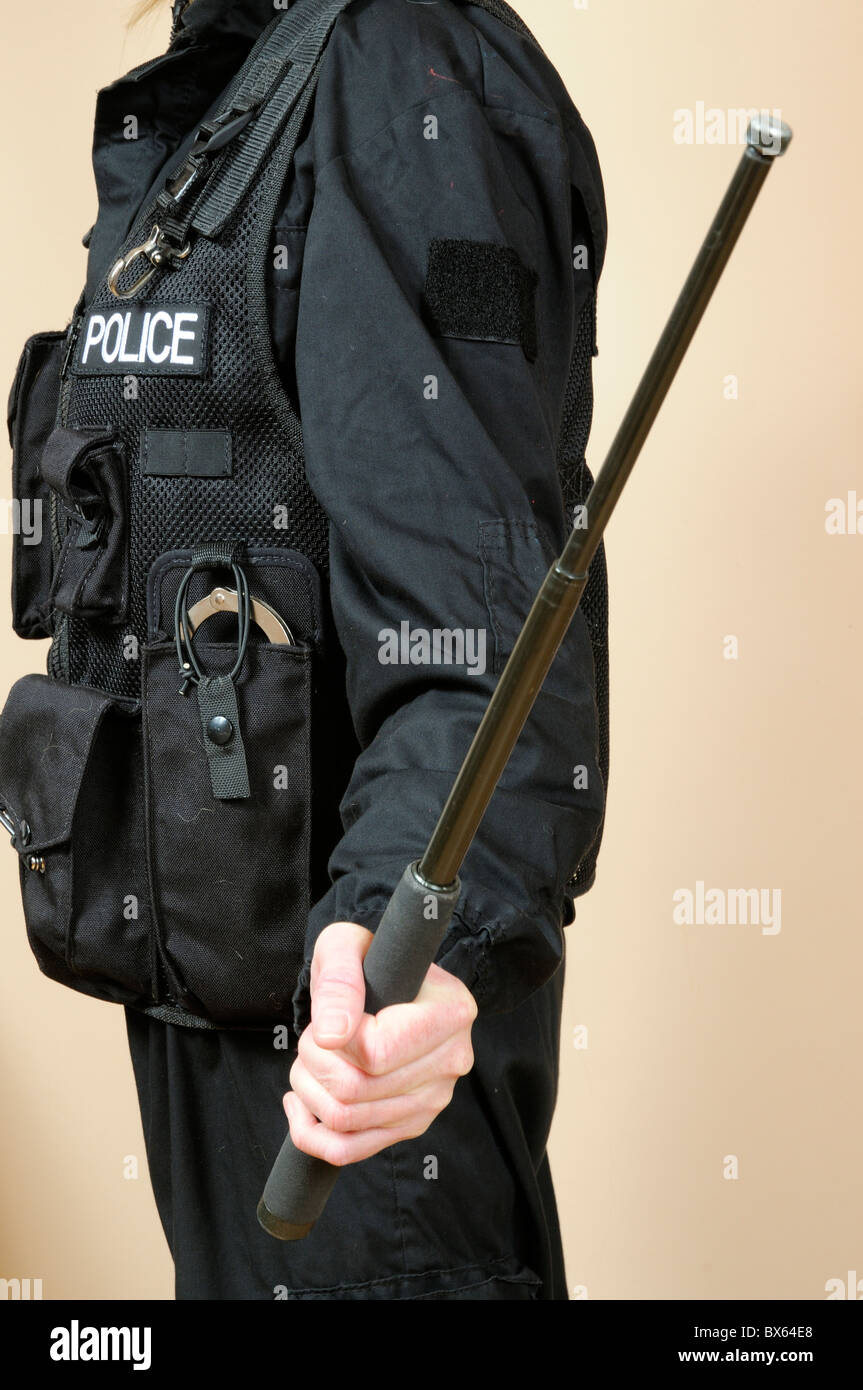 police officer with baton stock photos amp police officer