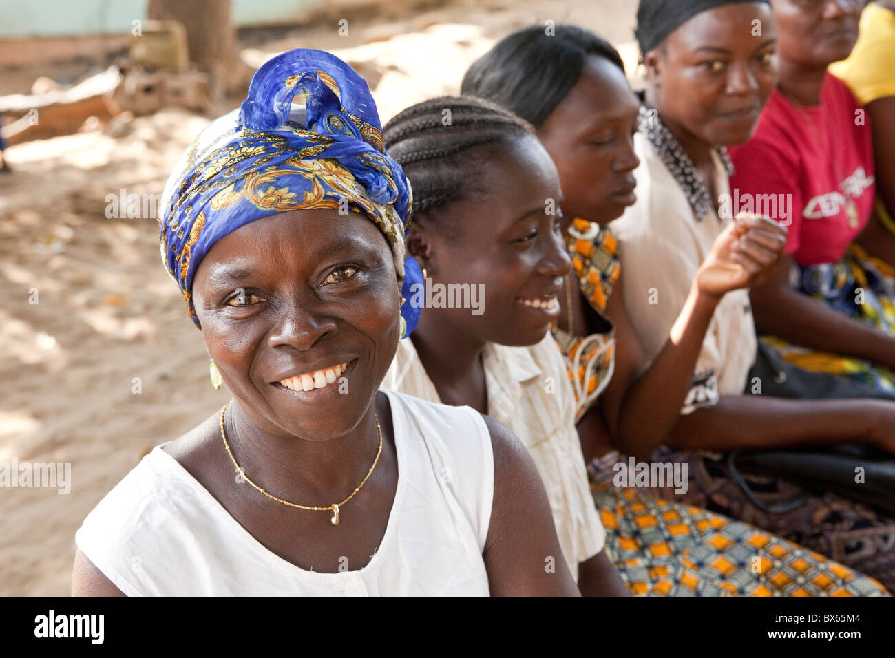 Women attend a community group meeting in Monrovia, Liberia, West Africa. - Stock Image