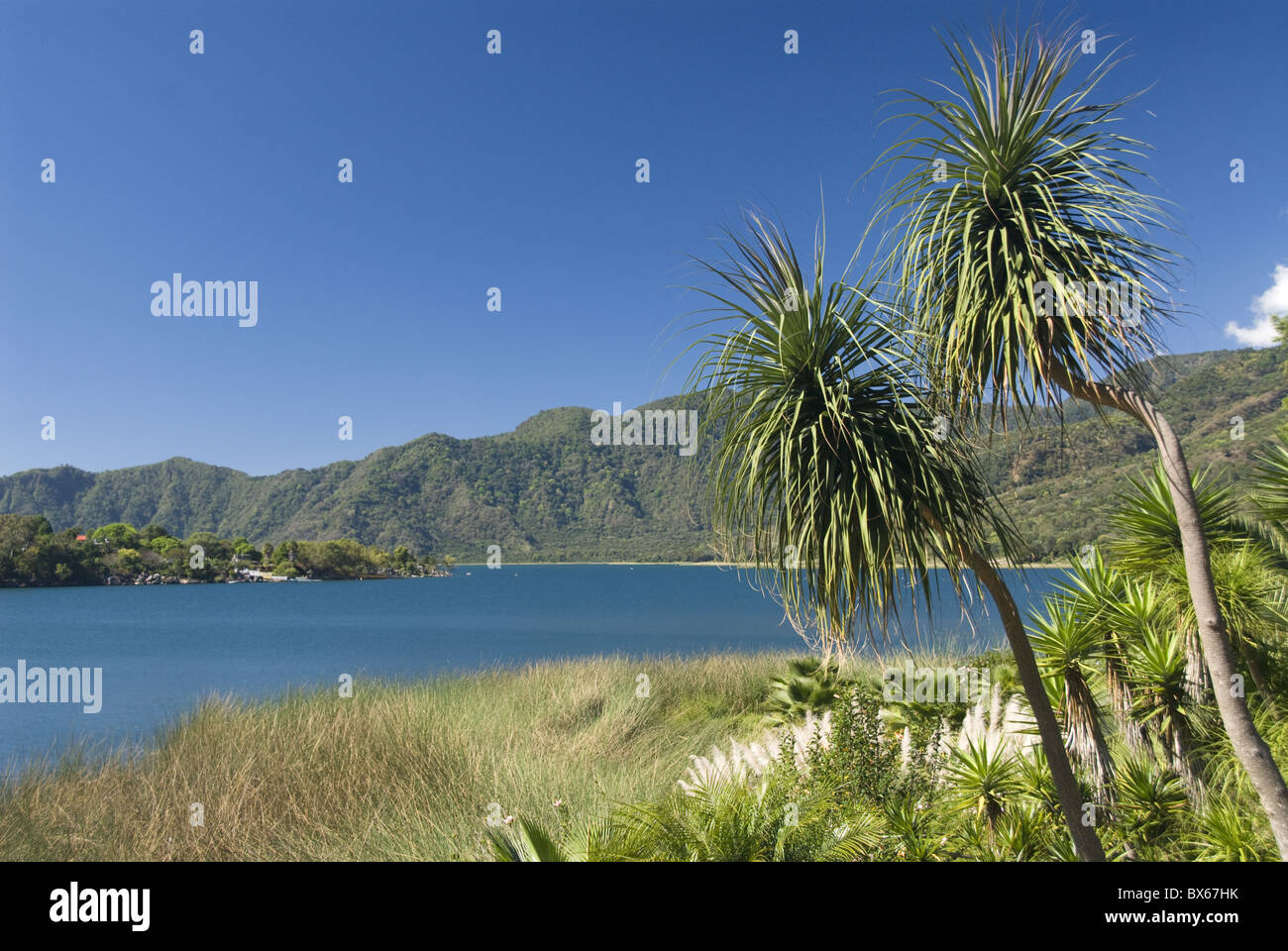 Lake Atitlan, near Santiago Atitlan, Guatemala, Central America Stock Photo