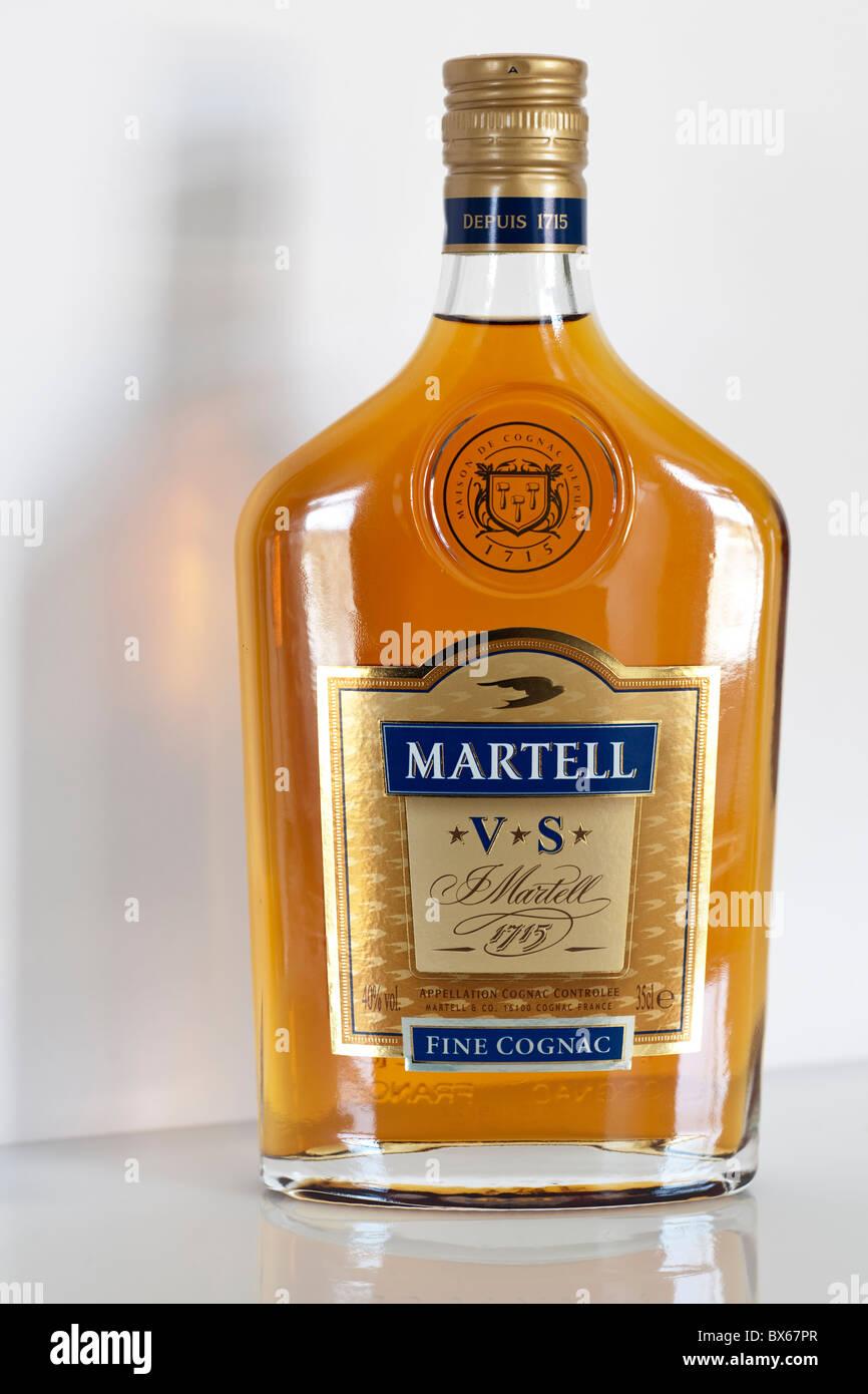 Bottle of Martell fine cognac - Stock Image