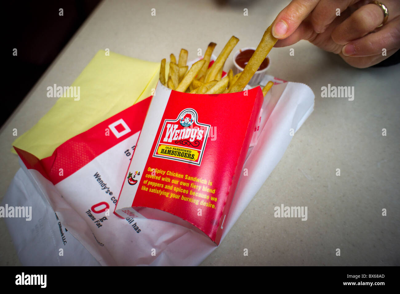 A Large Serving Of Wendys New French Fries
