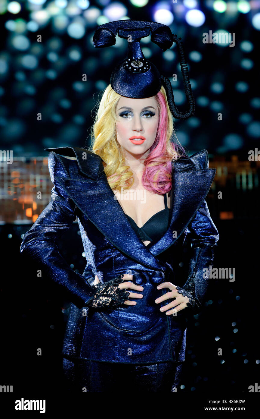 The new Lady Gaga waxwork is unveiled at Madame Tussauds, London, 9th December 2010. - Stock Image