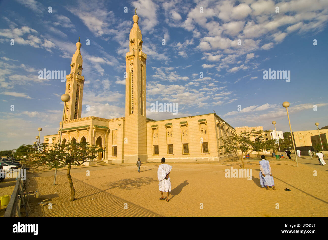 Central mosque in Nouakchott, Mauritania, Africa - Stock Image