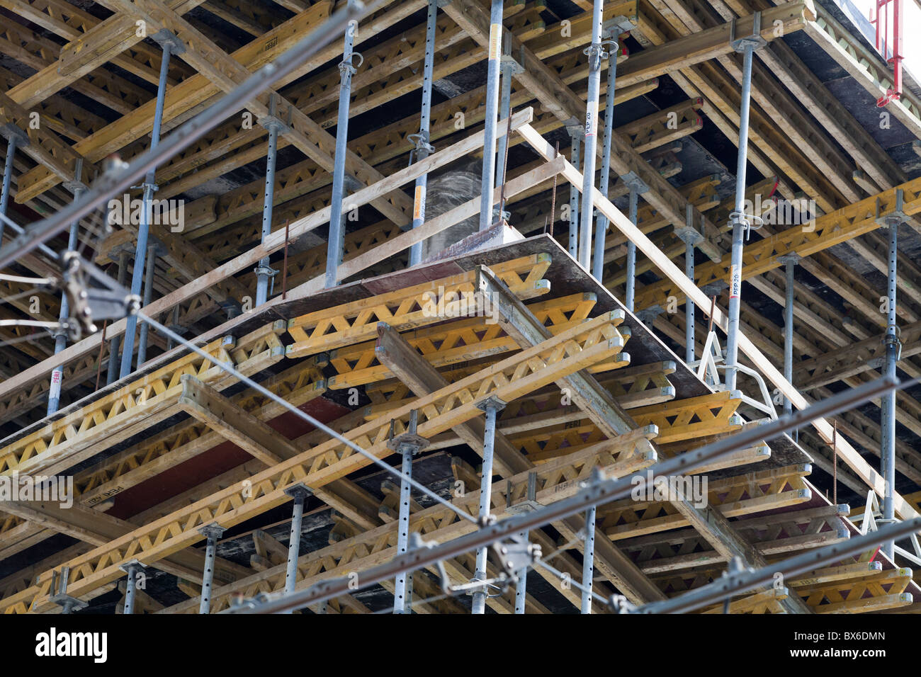 Formwork for reinforced concrete at a construction site in Ostrava, Czech Republic. (CTK Photo/Rene Fluger) - Stock Image