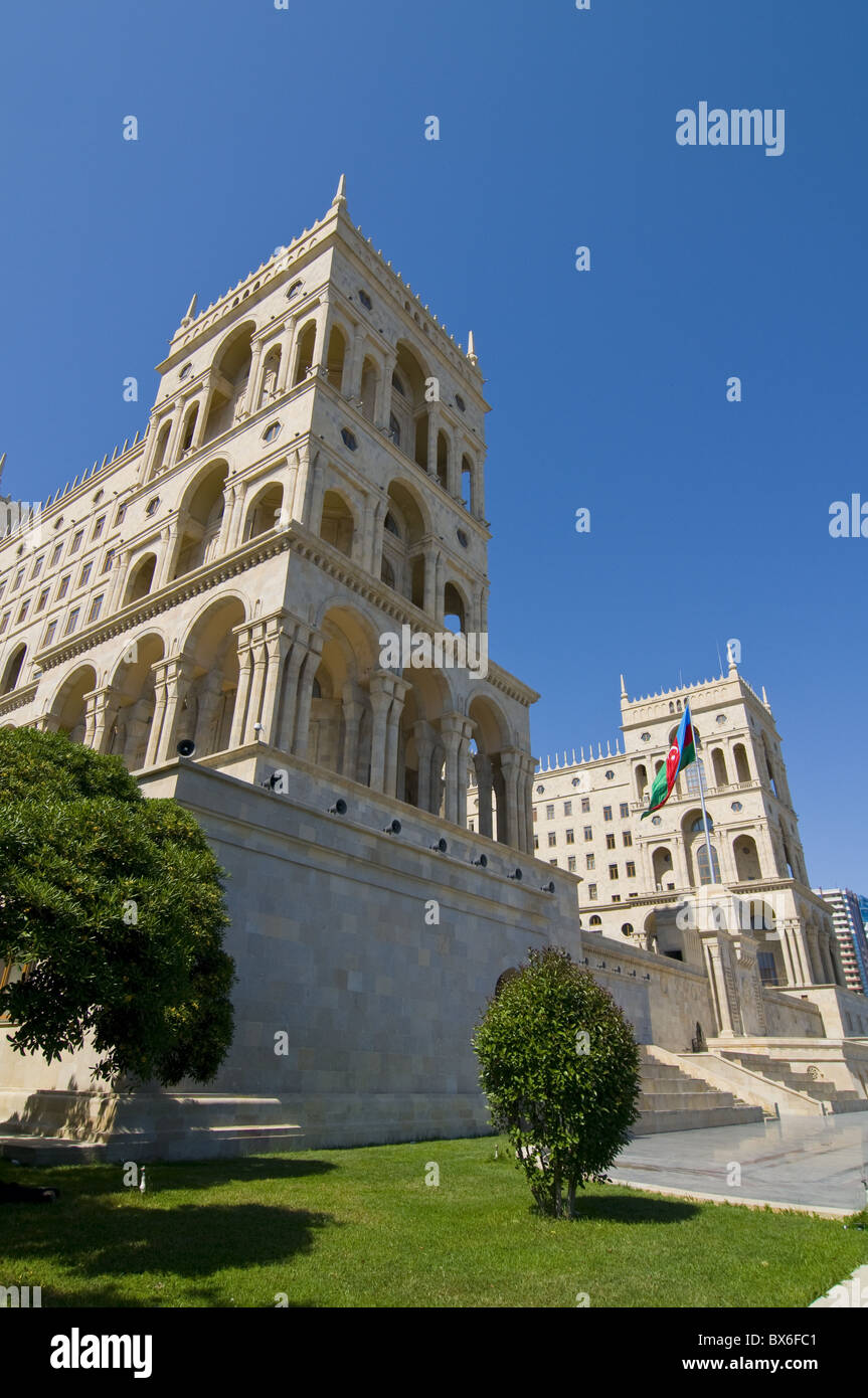 Government House (Dom Soviet), Baku, Azerbaijan, Central Asia, Asia - Stock Image
