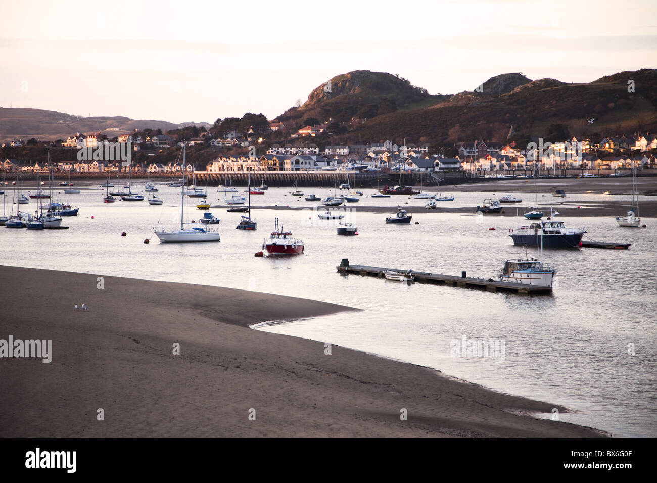 Port area of Conwy, Clwyd, Wales, United Kingdom, Europe - Stock Image