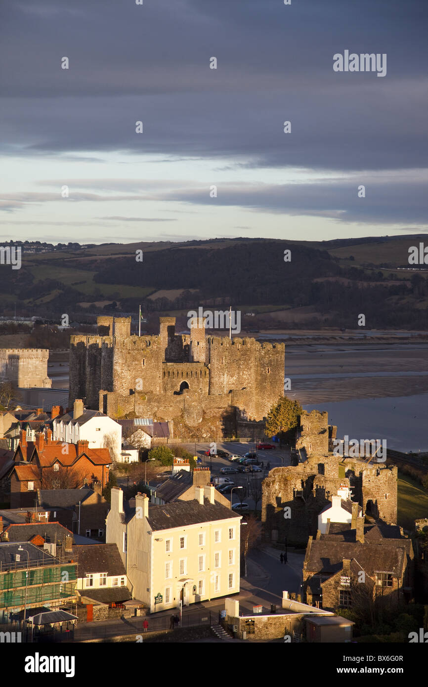 Conwy Castle, UNESCO World Heritage Site, Conwy, Clwyd, Wales, United Kingdom, Europe - Stock Image