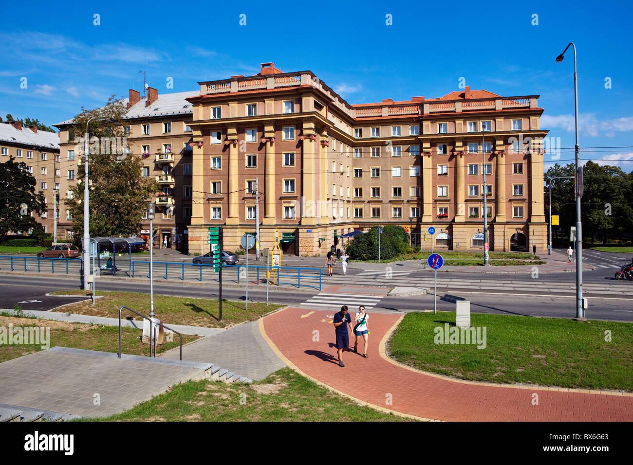 Ostrava Poruba, appartment, house, building - Stock Image