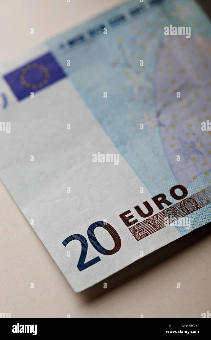 20 Euro cash note. (CTK Photo/Josef Horazny) - Stock Image