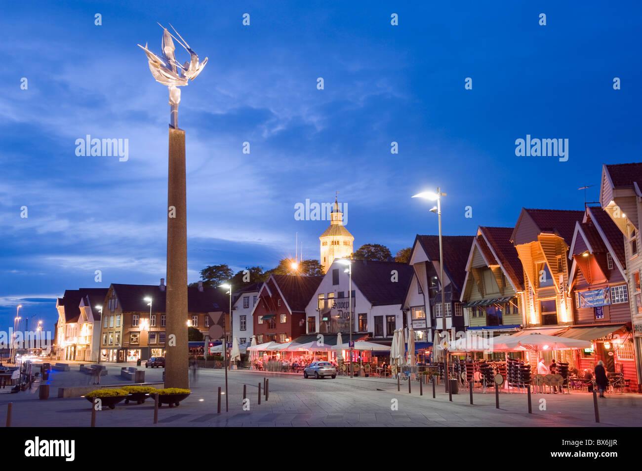 Historic harbour warehouses, Stavanger, Norway, Scandinavia, Europe - Stock Image