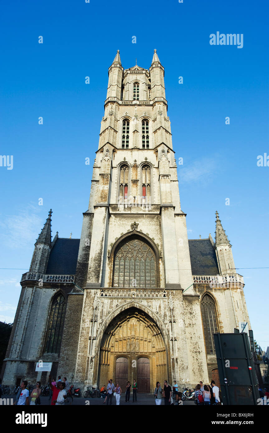 St. Baafskathedraal (St. Baafs Cathedral), Ghent, Flanders, Belgium, Europe - Stock Image