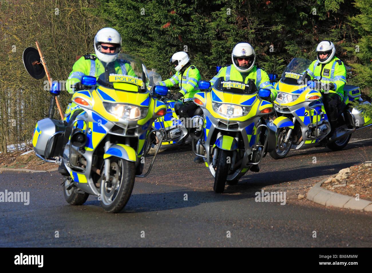 Metropolitan police bikes - Stock Image