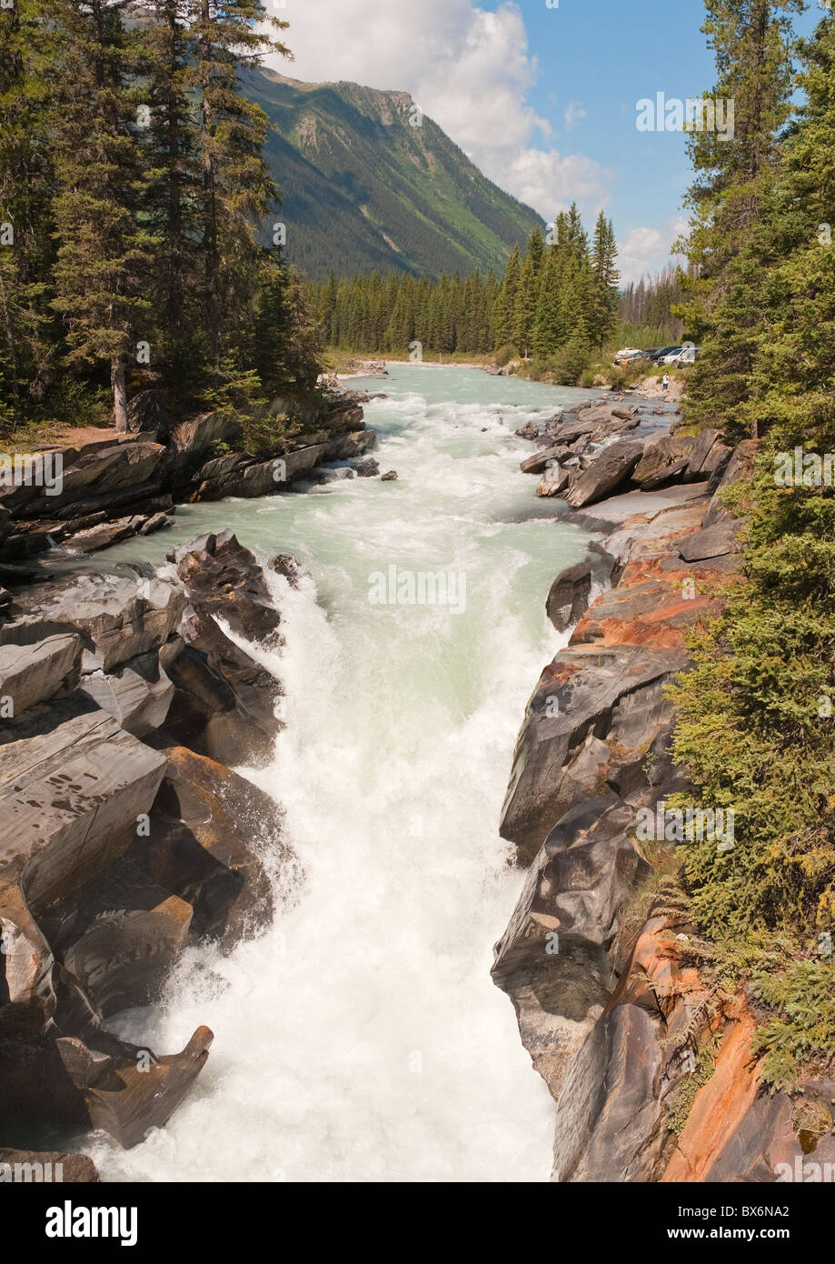 Numa Falls on the Vermilion River, Kootenay National Park, British Columbia, Canada. - Stock Image