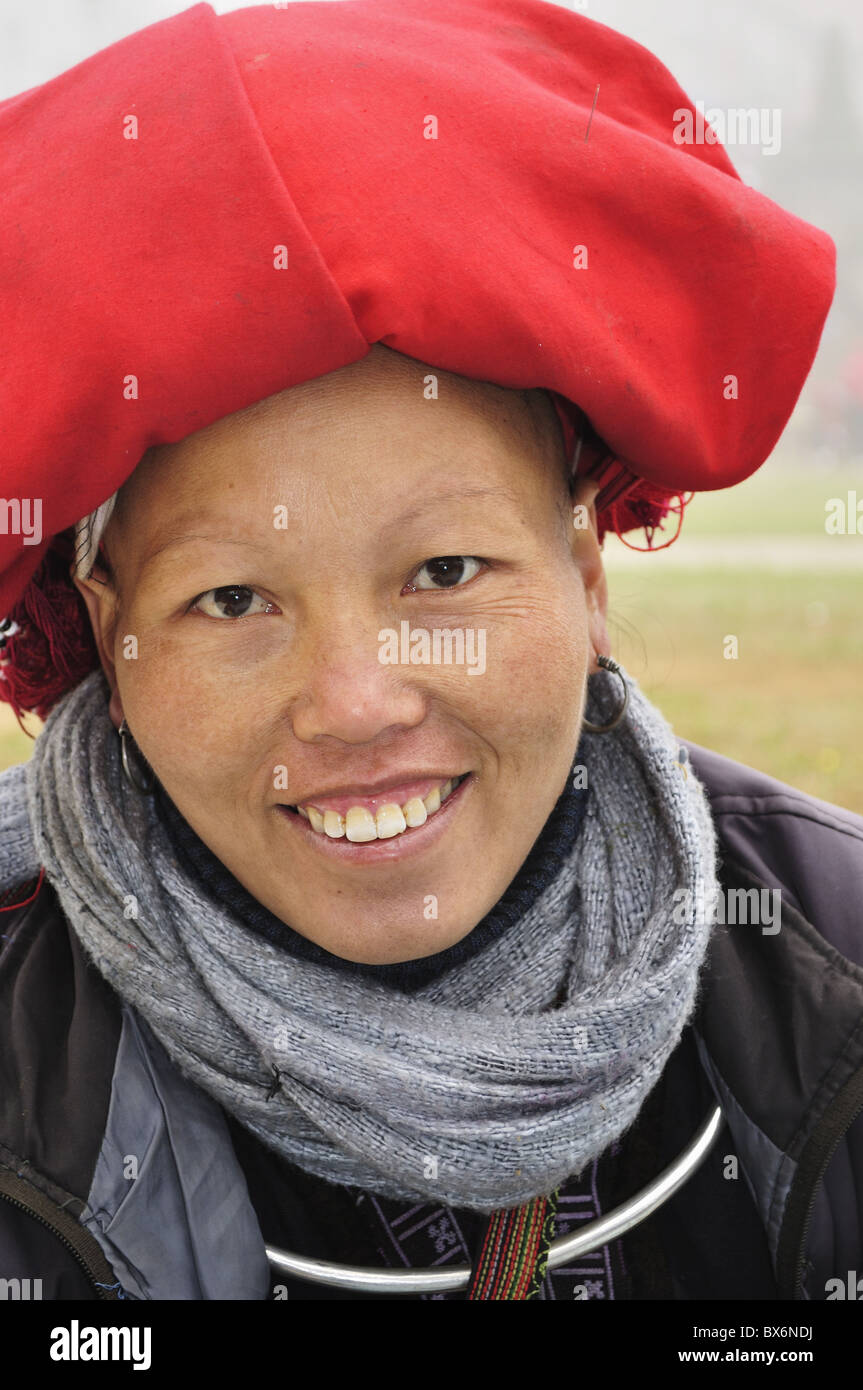 Hill tribe woman of the minority people of the Lao Chai, Sapa, Vietnam, Indochina, Southeast Asia, Asia - Stock Image