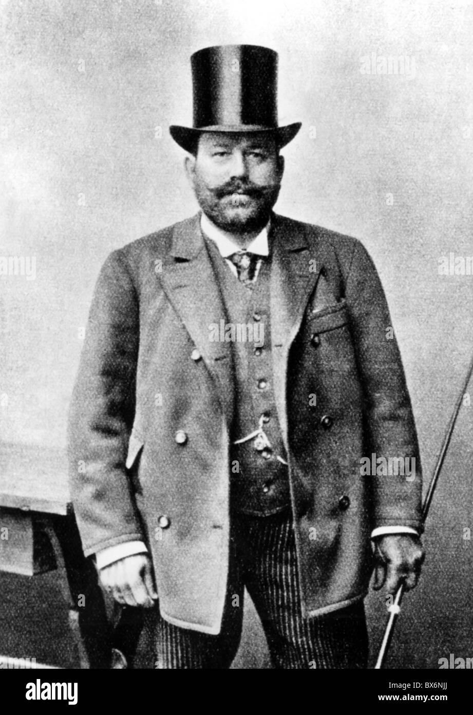 Bratfisch, Josef, 26.8.1847 - 16.12.1892, Viennese coachman, half length, circa 1888, , Additional-Rights-Clearances - Stock Image