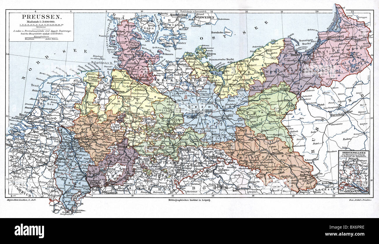 Administrative Map Germany Division Stock Photos Administrative